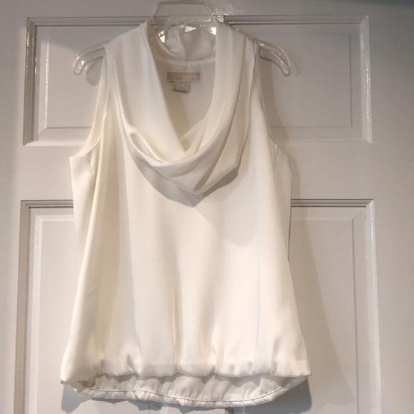 Michael Kors Tops - Michael Kors Petite Sleeveless Cowl Blouse NWOT